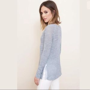 Free people blue mountain Henley knit sweater